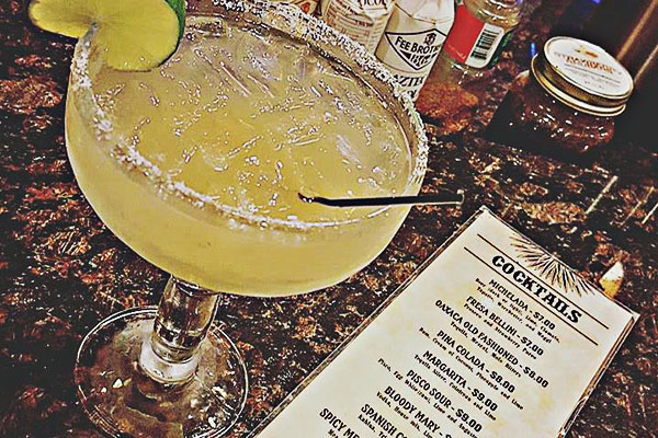 image of amelia's famous margarita and cocktail menu