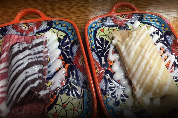 image of blackberry and pineapple sweet tamales by Amelia's